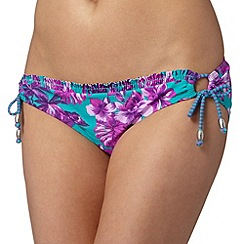 Mantaray - Turquoise hawaiian loop bikini bottoms