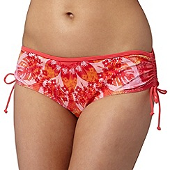 Mantaray - Red floral print bikini bottoms