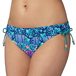 Mantaray - Turquoise floral bikini bottoms