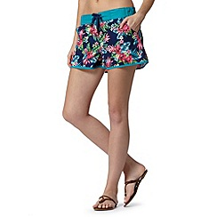 Mantaray - Navy floral board shorts