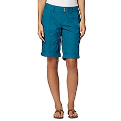 Mantaray - Dark turquoise cargo shorts