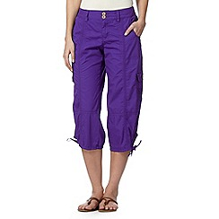 Mantaray - Purple cropped cargo trousers