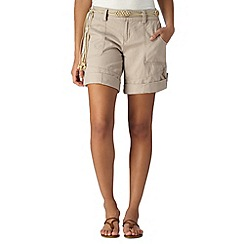 Mantaray - Natural linen blend shorts