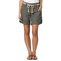 Mantaray - Khaki linen blend shorts
