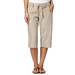 Mantaray - Natural linen blend cropped trousers