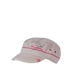 Mantaray - Grey canvas baker boy cap