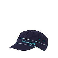 Mantaray - Navy tipped baker boy cap