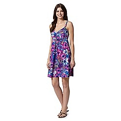 Mantaray - Pink floral beach dress