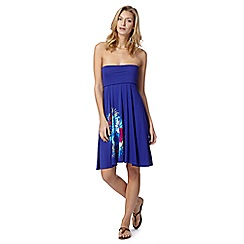 Mantaray - Blue placement floral 4-way dress skirt