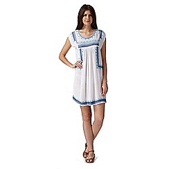 Mantaray - White embroidered pattern dress