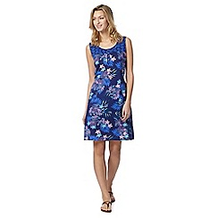 Mantaray - Navy floral tie back dress