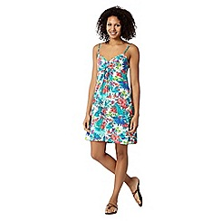 Mantaray - Blue floral self tie dress