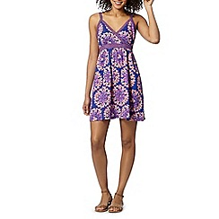 Mantaray - Purple circle cross front dress