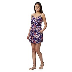 Mantaray - Purple floral playsuit