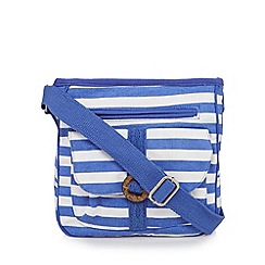 Mantaray - White striped cross body bag