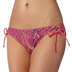Mantaray - Navy tribal self tie bikini bottoms