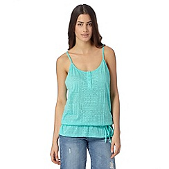 Mantaray - Aqua aztec burn out cami vest