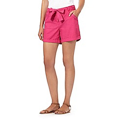 Mantaray - Pink floral embroidered shorts