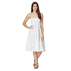 Mantaray - White bandeau shirred dress