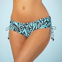 Mantaray - Grey swirl print bikini bottoms