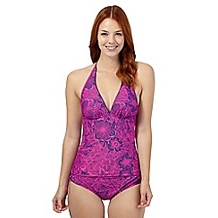 Mantaray - Purple floral tankini top