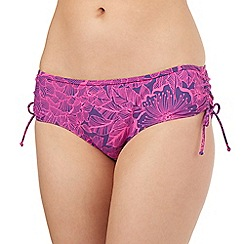 Mantaray - Purple floral bikini bottoms