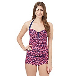 Mantaray - Purple ditsy floral tankini