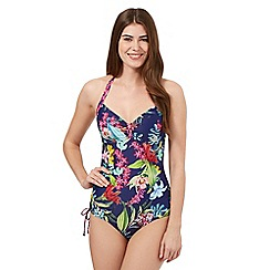 Mantaray - Navy floral swimsuit