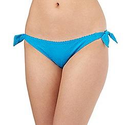 Mantaray - Turquoise aztec bikini bottoms