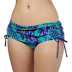 Mantaray - Green floral skirt bikini bottoms