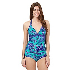 Mantaray - Green floral tankini top