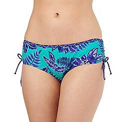 Mantaray - Green floral bikini bottoms