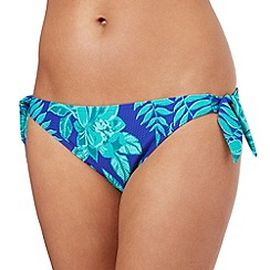 Mantaray - Blue floral bikini bottoms