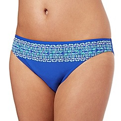 Mantaray - Blue aztec bikini bottoms