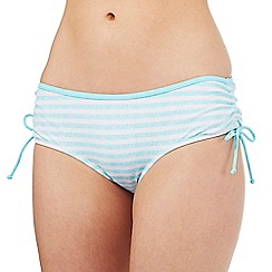 Mantaray - Aqua striped print bikini bottoms