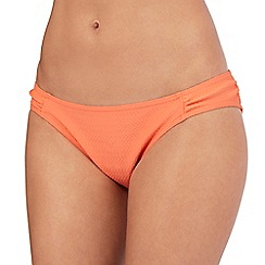 Mantaray - Orange textured overlapping zig zag bikini bottoms