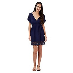 Mantaray - Navy lace kaftan dress