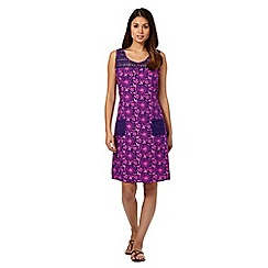 Mantaray - Purple crochet top dress