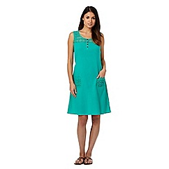 Mantaray - Green crochet top dress