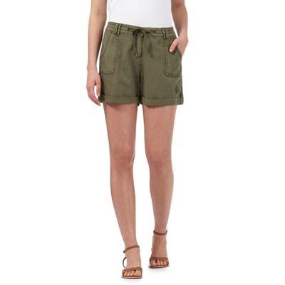 Mantaray Khaki linen blend shorts