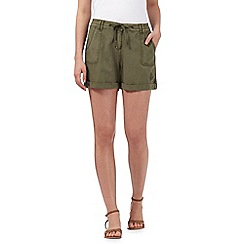Mantaray - Khaki linen blend shorts