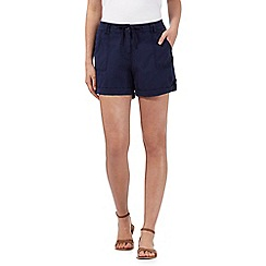 Mantaray - Navy linen blend shorts