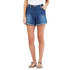 Mantaray - Blue denim roll up shorts