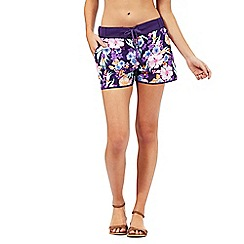 Mantaray - Purple floral print board shorts