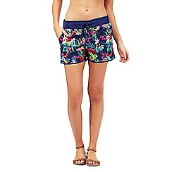Mantaray - Navy floral print board shorts