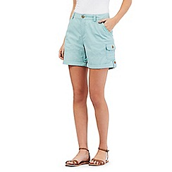 Mantaray - Aqua poplin shorts