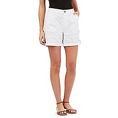 Mantaray - White poplin shorts