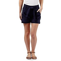 Mantaray - Navy linen shorts