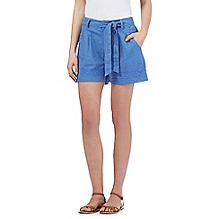 Mantaray - Blue linen blend shorts