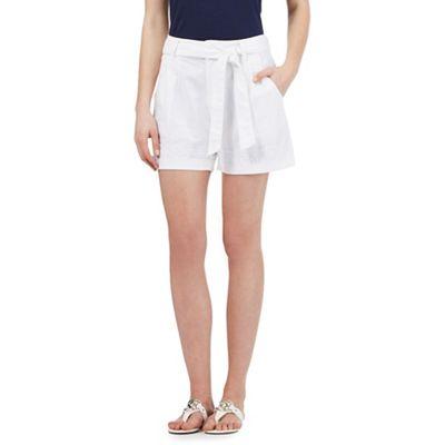 Mantaray White linen blend shorts